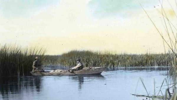 Finley and Bohlman explore Malheur Lake.