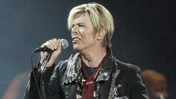 David Bowie, shown here in concert in 2003, considered selling his music catalog but ultimately opted to securitize his royalties instead.