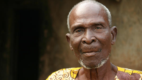 Bondi Sanbark, the chief in Beposo 2, says his village used to be full of blind men led around by boys — but that began to change when a new drug was distributed.