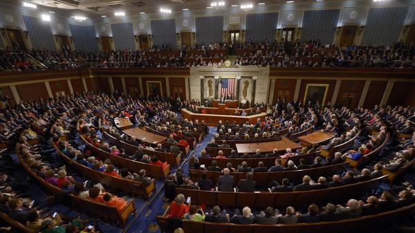 "President Obama delivers his final State of the Union address last week at the Capitol. He said one of the regrets of his presidency was that the ""rancor and suspicion between the parties has gotten worse."""