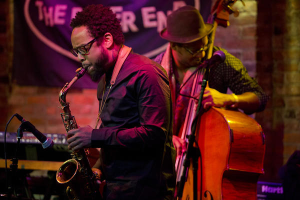 Terrace Martin is best known as a hip-hop producer, but his first major musical outlet was jazz saxophone. He presented a group at Winter Jazzfest.