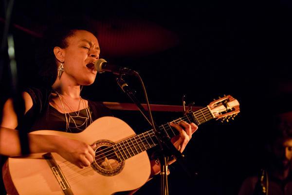 Ethiopian-born singer-songwriter Meklit Hadero played at Zinc Bar.