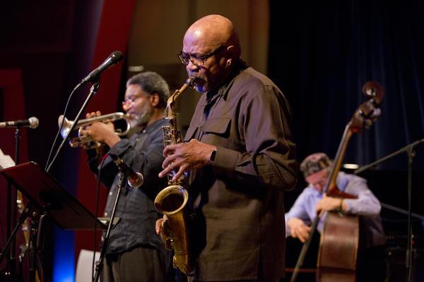 Saxophonist Oliver Lake, cornetist Graham Haynes, bassist Joe Fonda and drummer Barry Altschul performed together as the OGJB Quartet.