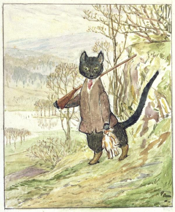 The original Kitty in Boots, which Beatrix Potter illustrated herself