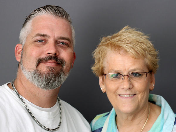 Sean Smith, with his mother, Lee, at their StoryCorps recording.