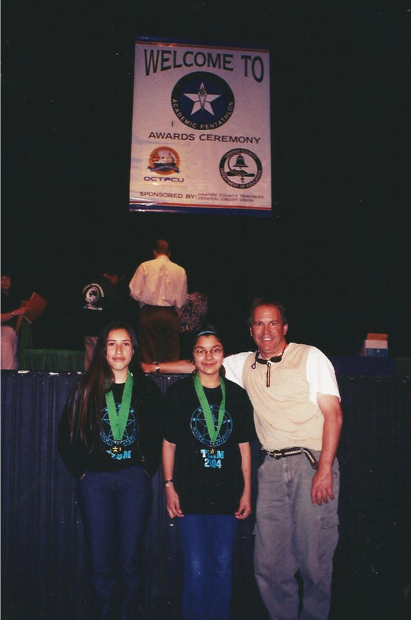 Melissa Adams (left) was a winner at a Pentathlon competition in middle school.