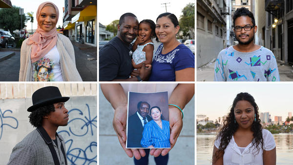 A selection of participants who identify as black and Mexican in Walter Thompson-Hernandez's Instagram project, Blaxicans of L.A.