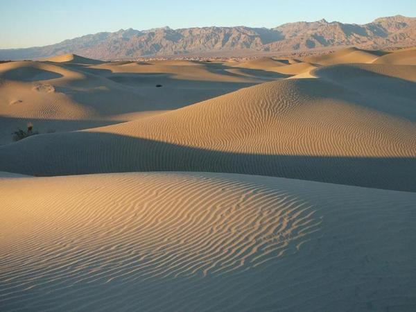 Mesquite Flat Sand Dunes in Death Valley.