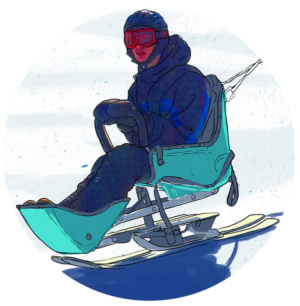 Adaptive skiing equipment makes it possible for students with illness or disability to hit the slopes.