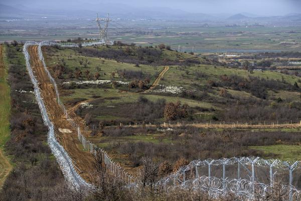 A general view along the Greek-Macedonia border on Tuesday near Idomeni.