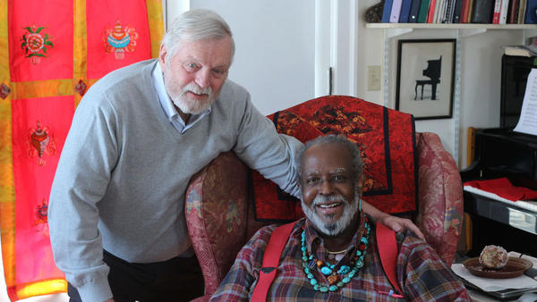 Francois Clemmons (right) and his friend Karl Lindholm, on their recent visit with StoryCorps.