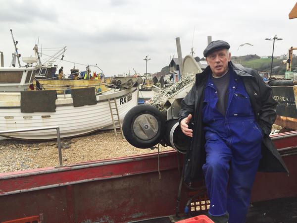 "Hastings fisherman Paul Joy complains that EU fishing quotas endanger his livelihood. ""We're very restricted in what we're allowed to keep,"" he says."
