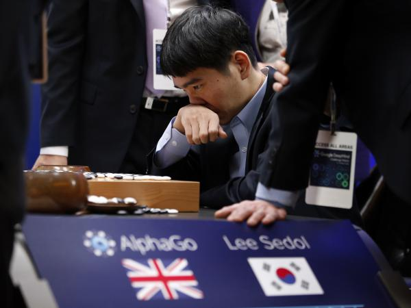 Professional Go player Lee Sedol, of South Korea, was defeated in the Google DeepMind Challenge Match against Google's artificial intelligence program, AlphaGo, in Seoul on March 15.