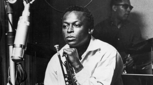 Miles Davis during a studio recording session, October 1959.