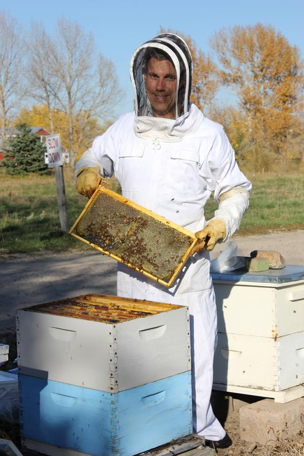 Beekeeper Nick French of Frangiosa Farms loses about one-quarter of his colonies every year. Last year, he had 300 adopters sign up for his farm's adopt-a-bee program.
