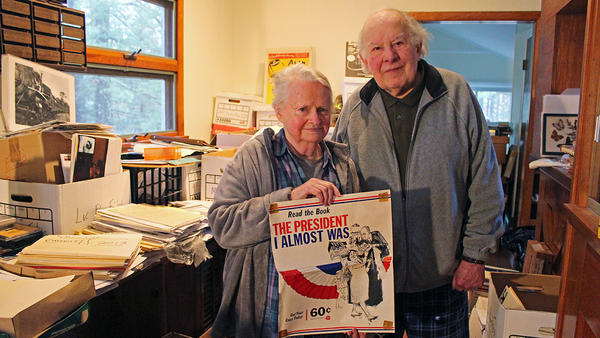Jeanne and Alan Abel in their home in Southbury, Conn.
