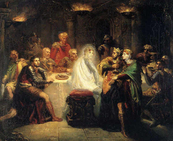 "Macbeth sees the ghost of Banquo: The banquet scene is ""Macbeth's opportunity to provide good food and entertainment for his subjects and prove that he is worthy of being king,"" says Daniel Foster. It's a big fail."
