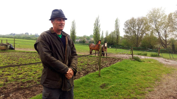 """""""As a farmer,"""" says Will Dickinson, """"I want to stay in business."""" He plans to vote next month to stay in the EU, in part because of the farm subsidies he receives from the European Union."""