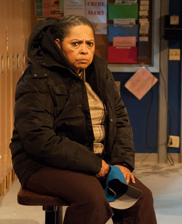 Lynda Gravatt plays Faye, a shop steward who has spent her life working for the auto factory, but is now living in her car.
