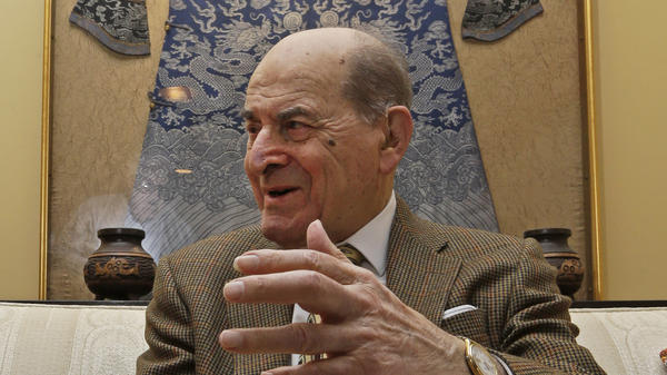 Dr. Henry Heimlich is interviewed in his home in Cincinnati in 2014.