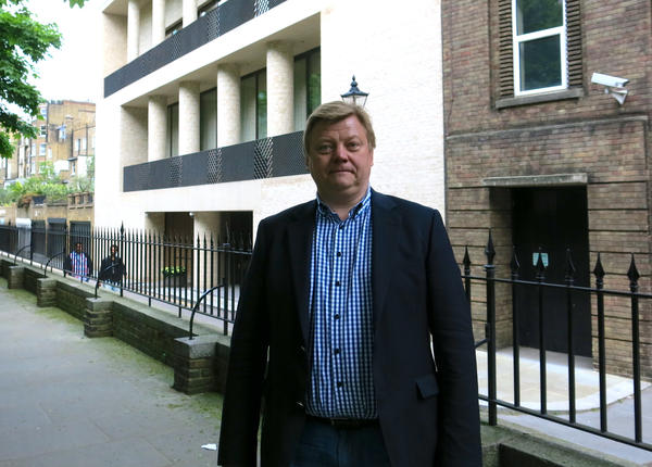 Roman Borisovich is a Russian banker-turned-anti-corruption activist and founder of ClampK, the Campaign for Legislation Against Money-laundering in Property by Kleptocrats. Here Borisovich stands in front of a multi-million dollar London house owned by Dmitry Firtash, a Ukrainian billionaire indicted in the U.S. for money-laundering.