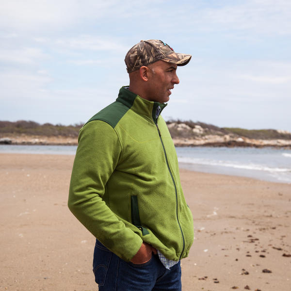 Chris Moroski walks the beach near his home in Narragansett, R.I. Moroski, who was injured by an IED blast in 2005 while on patrol in Iraq, has almost no memory of what happened.