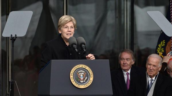 Sen. Elizabeth Warren speaks at the dedication ceremony for the Edward M. Kennedy Institute for the United States Senate in 2015.