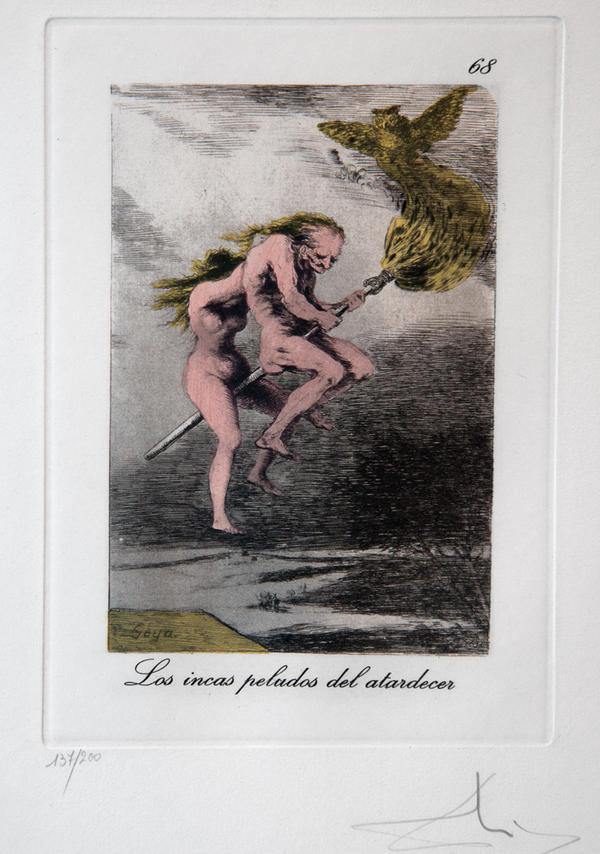 <em>Los incas peludos del atardecer,</em> a reworking of Francisco Goya
