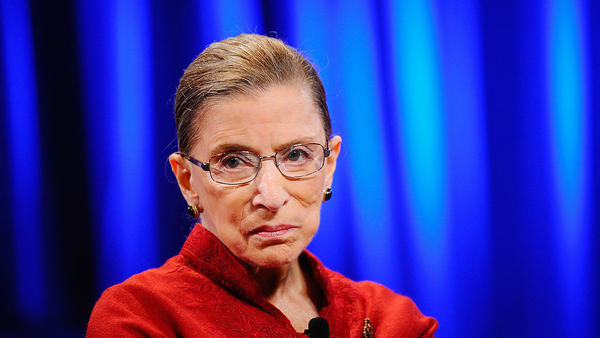 Justice Ruth Bader Ginsburg attends a conference in October 2010 in Long Beach, California.