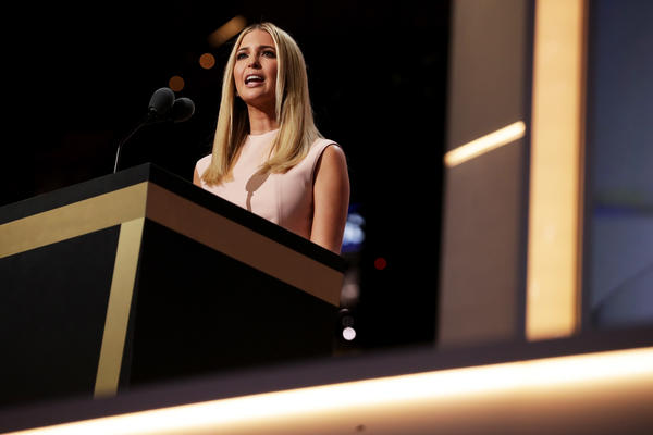 """Entrepreneur Ivanka Trump praised her father's business sense and ability to """"see potential in others"""" in her speech introducing Donald Trump at the Republican Convention on Thursday."""