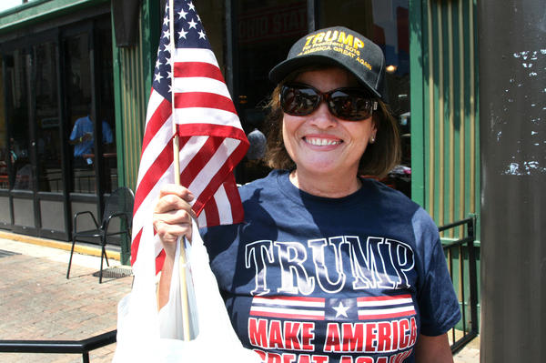"""Debbie Rocks, from Cleveland, says she believes in Trump's promise that he'll """"make America great."""""""