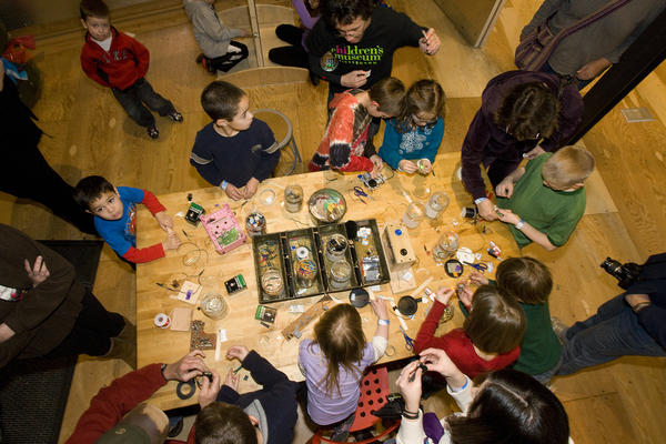 """MAKESHOP at the <a href=""""https://pittsburghkids.org/exhibits/makeshop"""">Children's Museum of Pittsburgh</a>."""