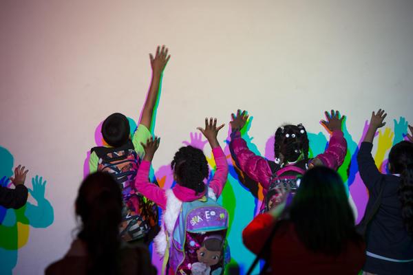Colored Shadows at the San Francisco Exploratorium.