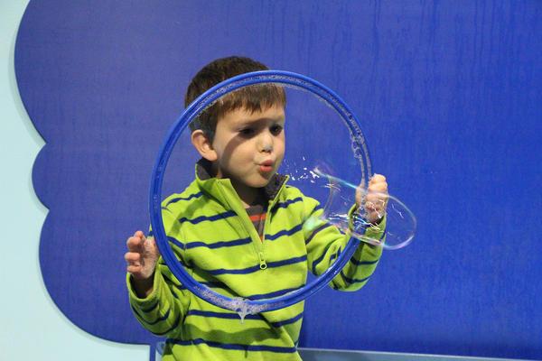 The Bubbles Exhibit at Boston Children's Museum.