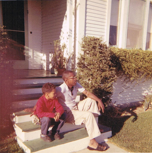 Author Walter Mosley with his father, Leroy Mosley.