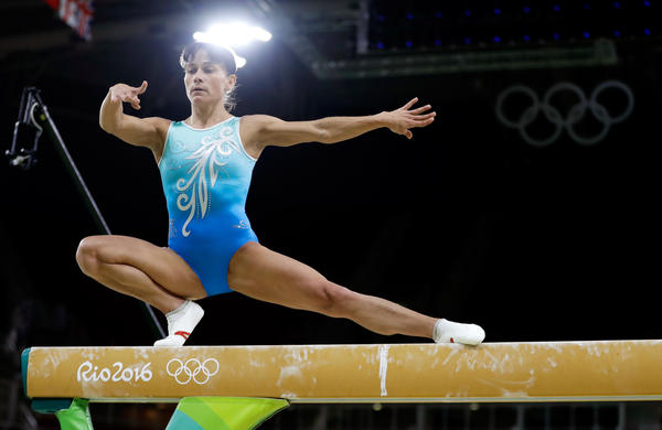 Oksana Chusovitina, 41, competed in the Olympics against gymnasts who are younger than her son.