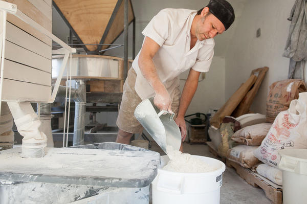 Elmore Mountain Bread has a custom-built stone mill.