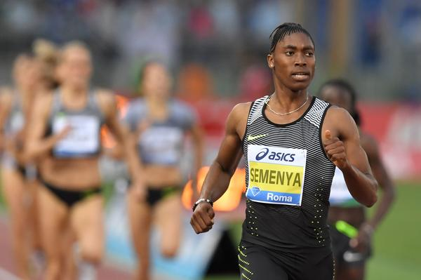 South Africa's Caster Semenya competes in the women's 800 meters in Rome on June 2.