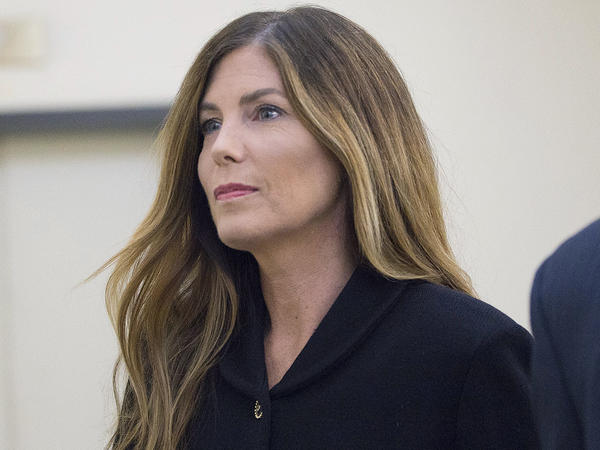 Pennsylvania Attorney General Kathleen Kane outside the Montgomery County Courthouse in Norristown, Pa. Kane resigned a day after she was convicted on charges of  perjury and obstruction of justice.
