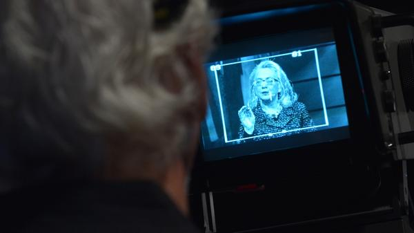 Hillary Clinton, seen on a TV camera monitor in 2013, has been criticized for not holding more press conferences.
