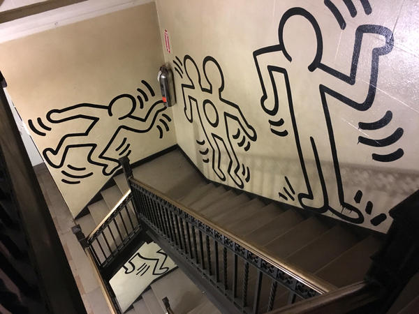 """""""It's sort of a great meditation when you're walking down the steps or up the steps ... """" says building resident Robert Savina. """"You see different things each time you pass it."""""""