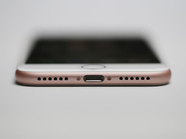 The new Apple iPhone 7 lacks a separate headphone jack, which makes people wonder how they can charge the phone while listening to music through a wired headphone via the Lightning connector. Apple's answer: a separate dock that starts at $39.