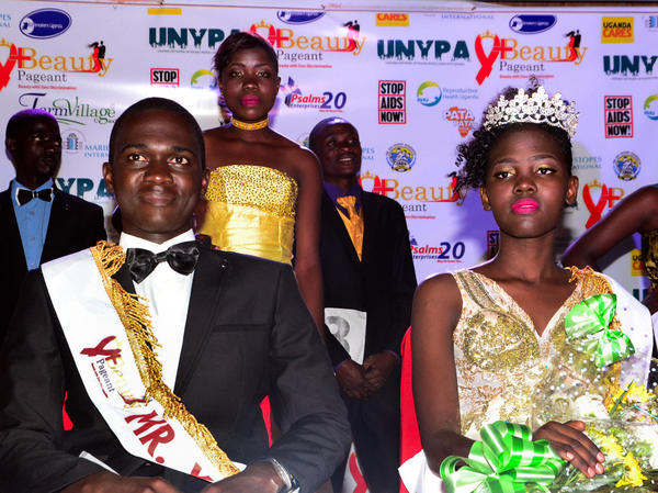 Henry Kirabira and Tryphena Natukunda are the winners of Uganda's Y+ beauty pageant — for young people living with HIV.