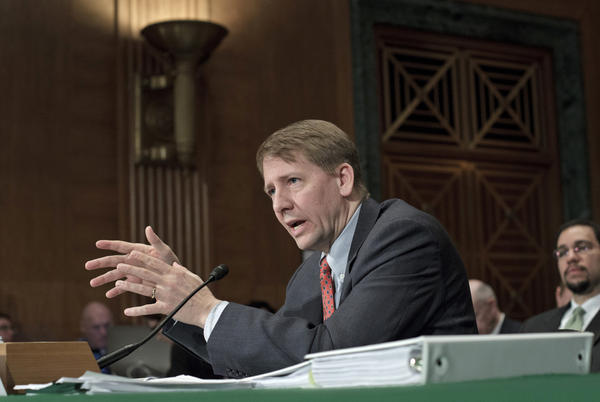 Consumer Financial Protection Bureau Director Richard Cordray testifies on Capitol Hill in January.
