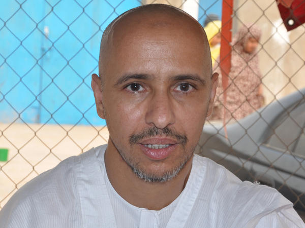 Mohamedou Ould Slahi, a recently released Guantanamo Bay prisoner who wrote the best-selling book <em>Guantanamo Diary, </em>in Nouakchott, Mauritania.