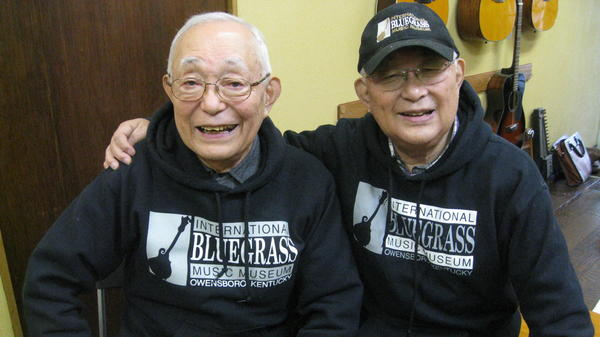 Yasushi (left) and Hisashi (right) Ozaki formed Japan's first bluegrass duo, the East Mountain Boys, in 1957.