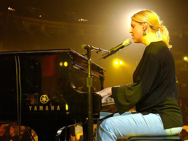 Christian singer-songwriter Nichole Nordeman performs during the 34th Annual Dove Awards rehearsals in 2003 at the Gaylord Center in Nashville, Tenn. Nordeman has spoken out about Trump.