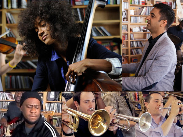 Clockwise from upper left: Esperanza Spalding, Vijay Iyer, The No BS Brass Band, Robert Glasper