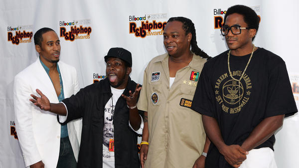 A Tribe Called Quest, seen here in 2005, is reuniting for an SNL appearance and album despite the death of founding member Phife Dawg, second from left, in March.