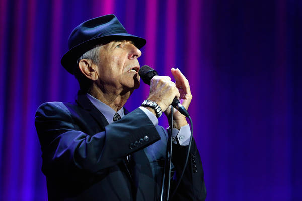 Leonard Cohen performs at the O2 Arena in London in September 2013.